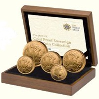Gold Proof 5 Coin Set